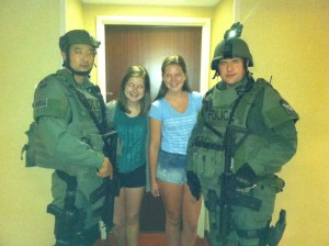 Sarah and Lainey with SWAT