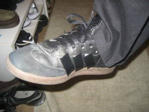 sambas with duct tape