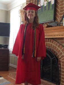 elizabeth in cap and gown  2